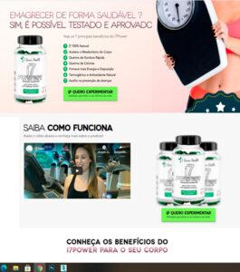 página de venda
